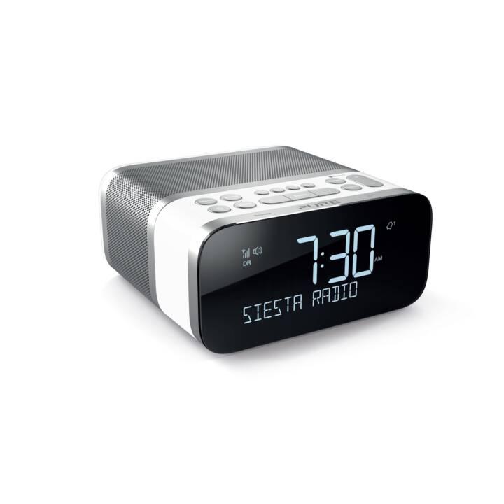 PURE Siesta S6 Radio-réveil (Blanc, Argent)