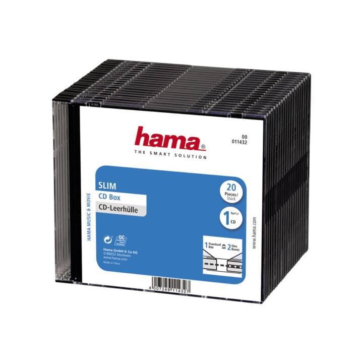 HAMA CD/DVD/Blu-Ray Slim Box, 20 pezzi