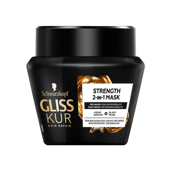 SCHWARZKOPF Gliss Kur Strength 2-in-1 Maschera (300 ml)