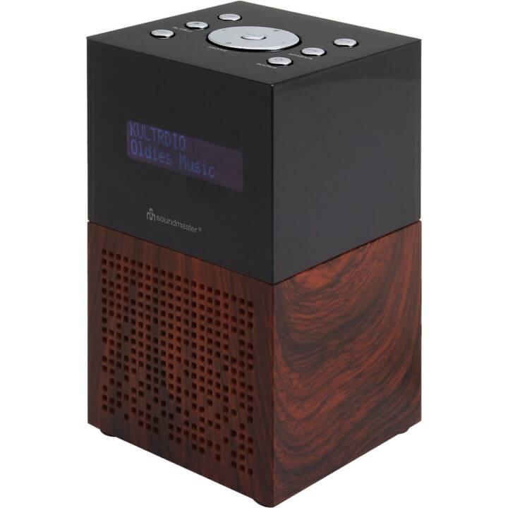 SOUNDMASTER UR210BR Radio-réveil (Noir, Brun)
