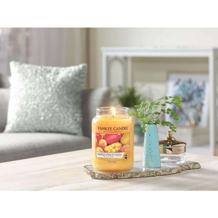 YANKEE CANDLE Mango Peach Salsa Candele profumate (Fruttato, Pesca, Limone, Zenzero, Mango)