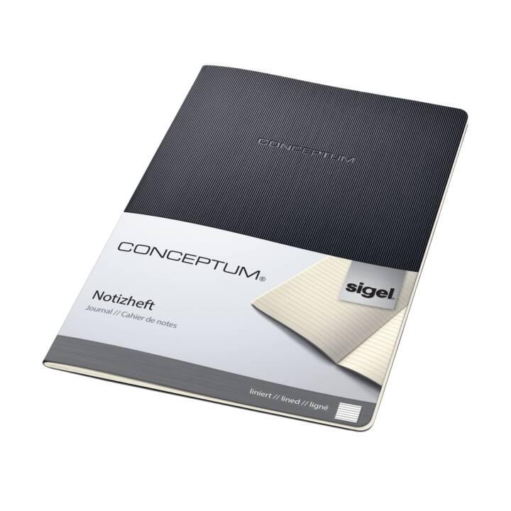 SIGEL Conceptum A4, doublé, noir
