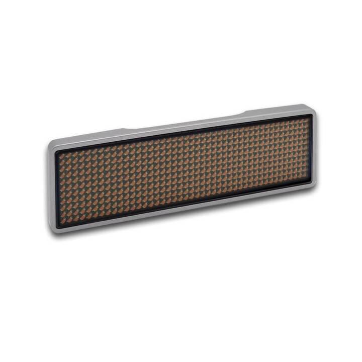 LED Name Tag, 11x44 Pixel, USB Rahmen si
