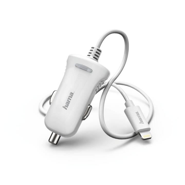 Chargeur de voiture HAMA pour appareils mobiles, blanc