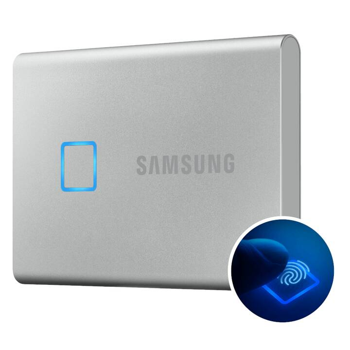 SAMSUNG T7 Touch (USB 3.1, 2 TB, Argento)