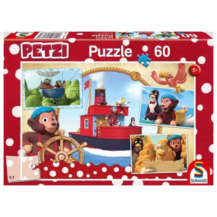 SCHMIDT Petzi, Freunde auf hoher See Puzzle (60 pièce)