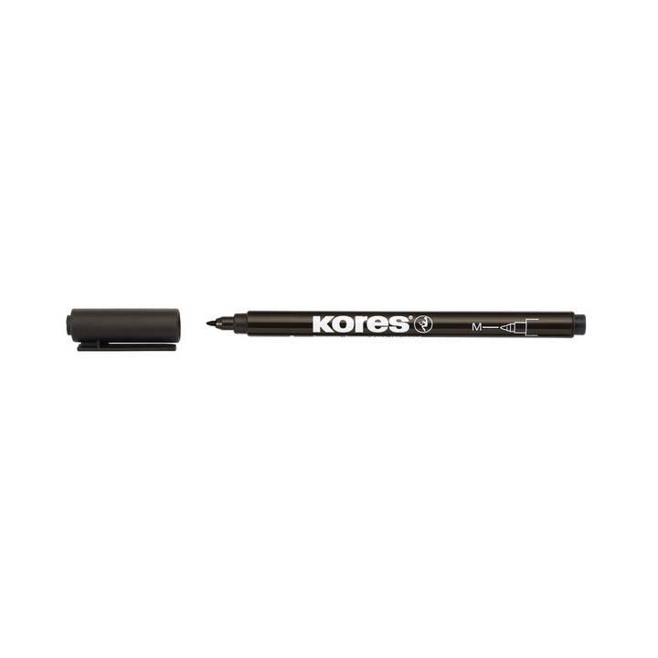 KORES K-Marker Permanent Fine M noir