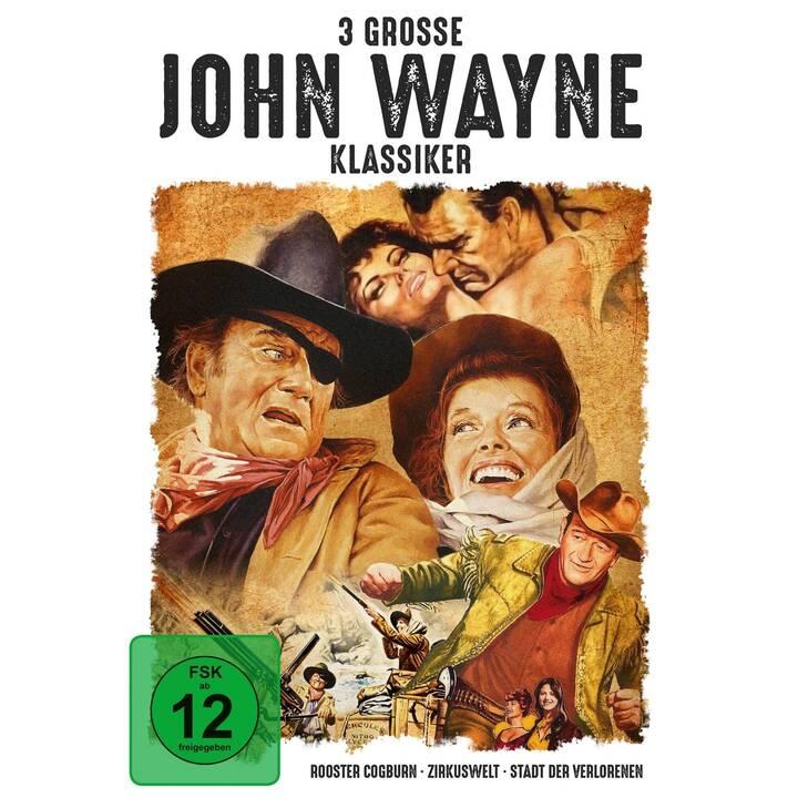 3 grosse John Wayne Klassiker - Rooster Cogburn / Zirkuswelt / Stadt der Verlorenen (EN, DE)