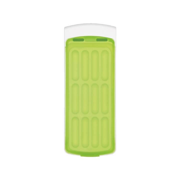 Eiswürfelbehälter mit Silikondeckel, grü