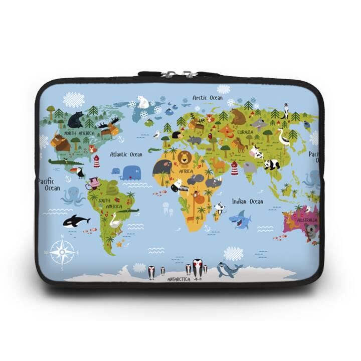 """EG HUADO Notebook Tasche für 7"""" - Karte"""