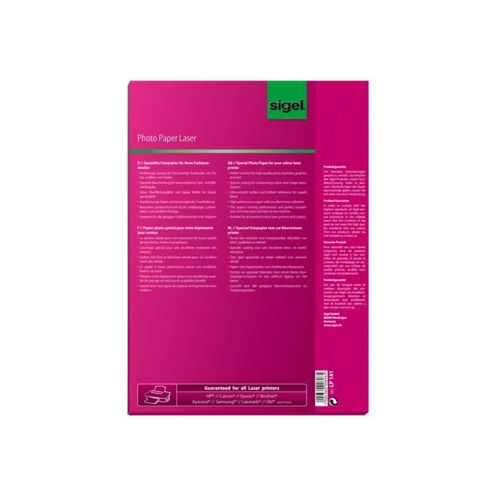 SIGEL Papier photo, 100 feuilles, A4, 135 g/m2