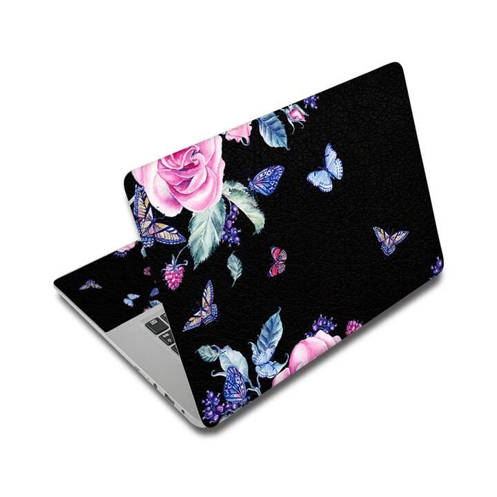 """EG Schutz Aufkleber für 17"""" Notebook - Schmetterling"""