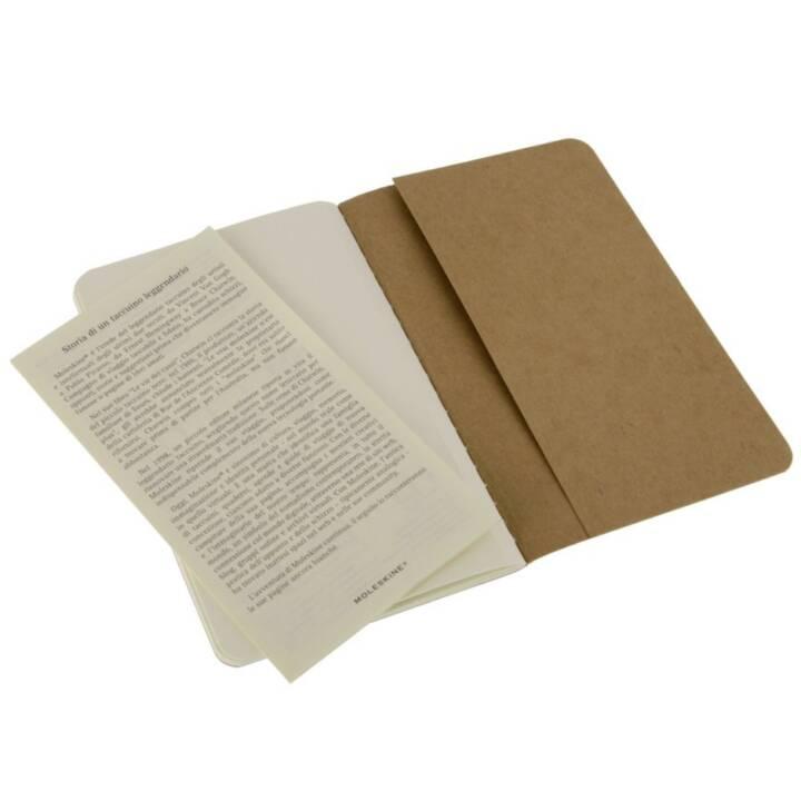 MOLESKINE Cahier A6 blanko, natur 3 Stück