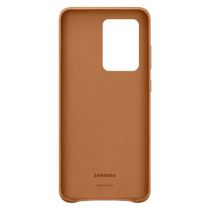 SAMSUNG Backcover Leather (Galaxy S20 Ultra, Marrone)