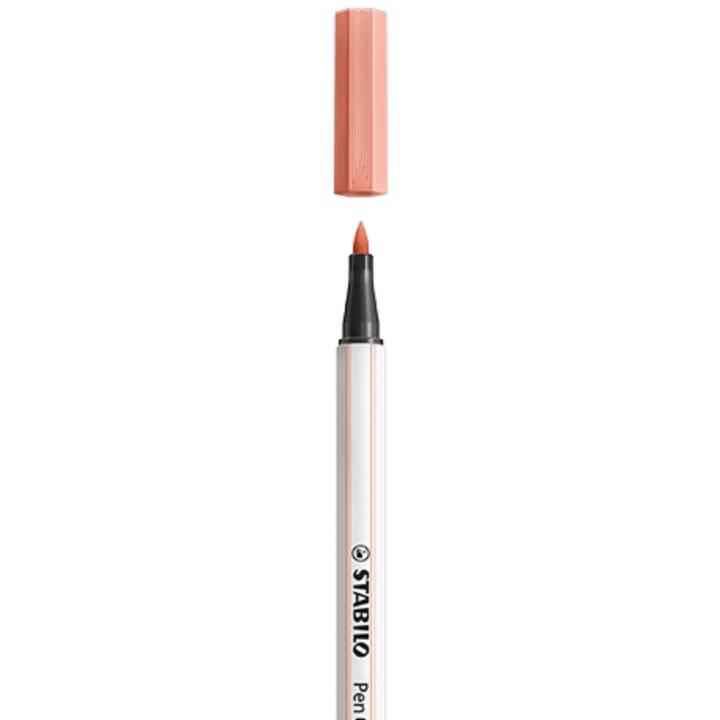 STABILO 68 brush Filzstift (Beige, 1 Stück)