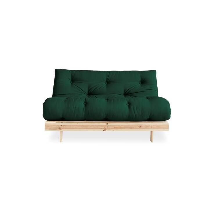 KARUP DESIGN Roots 140 Canapé-lit (Polyester, Coton, Vert forêt, 140 cm x 108 cm)