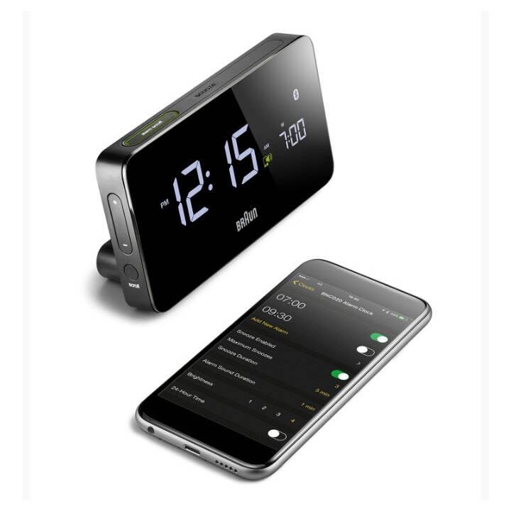BRAUN BNC020 Digitaluhr mit Bluetooth Black