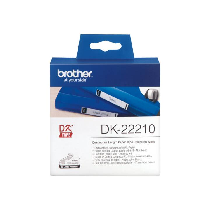 BROTHER Etikettenrolle DK-22210 Thermo Direct, 29 mm x 30.48 m