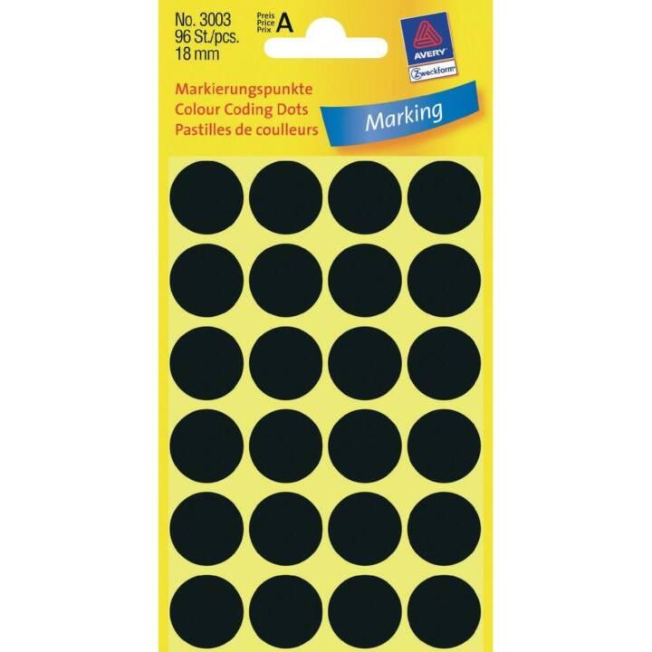 FORMULAIRE AVERY PURPOSE Points de repère noir 18mm