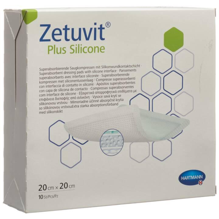 ZETUVIT Plus Silicone Kompressen/Wundauflagen (10 Stück)