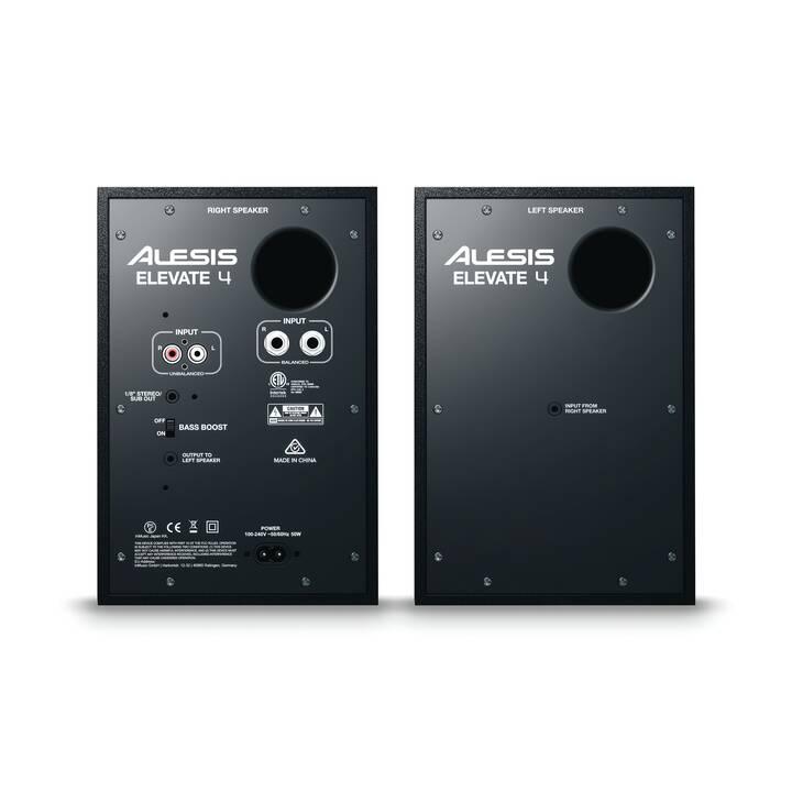 ALESIS Elevate 4 (25 W, Altoparlanti monitor, Nero)