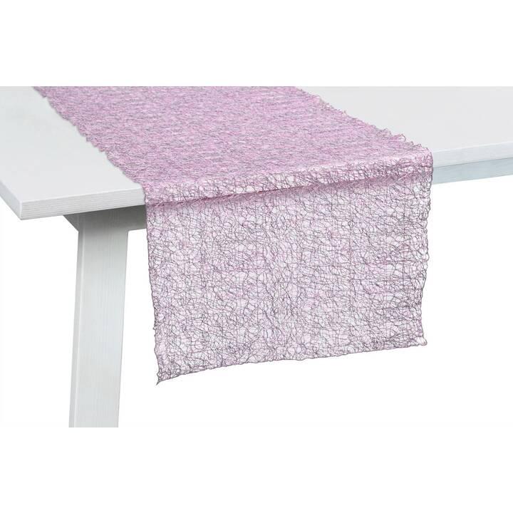 PICHLER Chemin de table Veneto (45 cm x 140 cm, Rectangulaire, Pink)