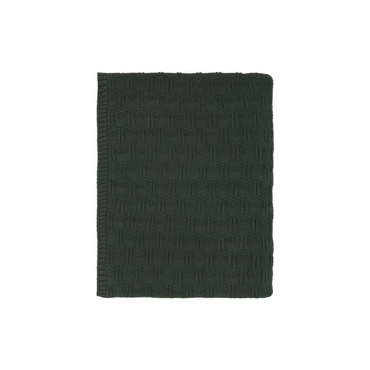 SÖDAHL Tagesdecke Deco Knit (130 cm x 170 cm, Dunkelgrün)