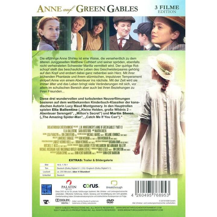 Anne auf Green Gables - 3 Filme Edition (DE)