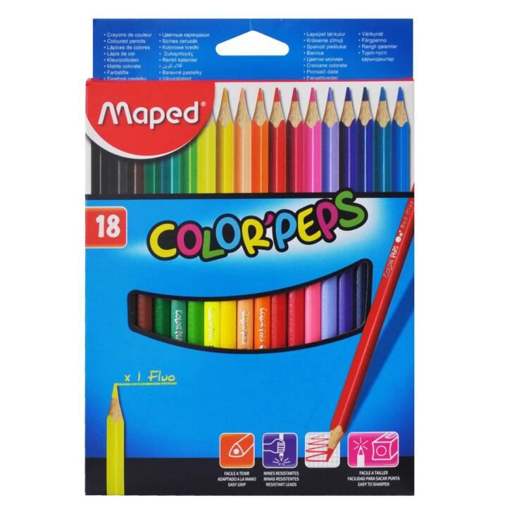 MAPED crayons de couleur Color Peps 18 pièces