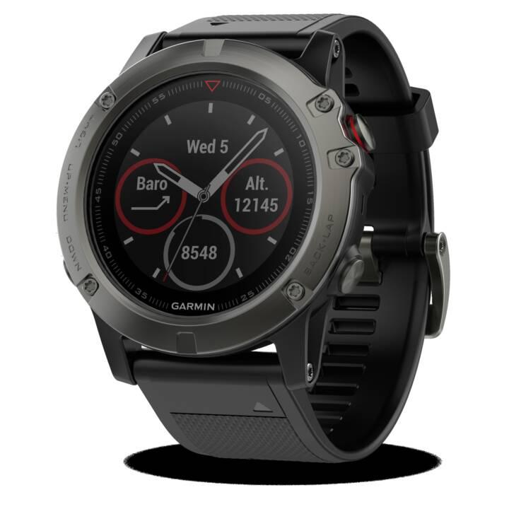 GARMIN Fenix 5X Saphir Grey (Taglia unica, Acciaio Inox, Silicone, GPS, GLONASS)