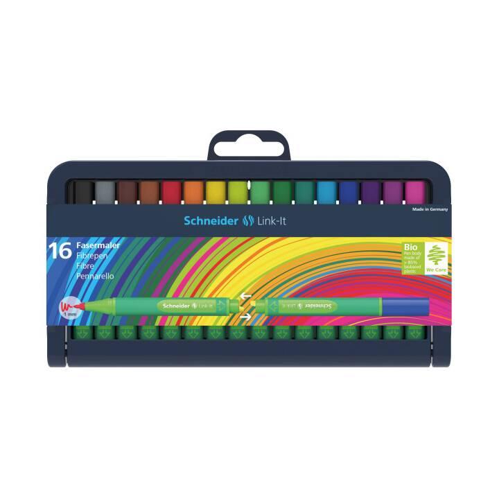 SCHNEIDER Fasermaler Link-It, 16 Stücke, Mehrfarbig