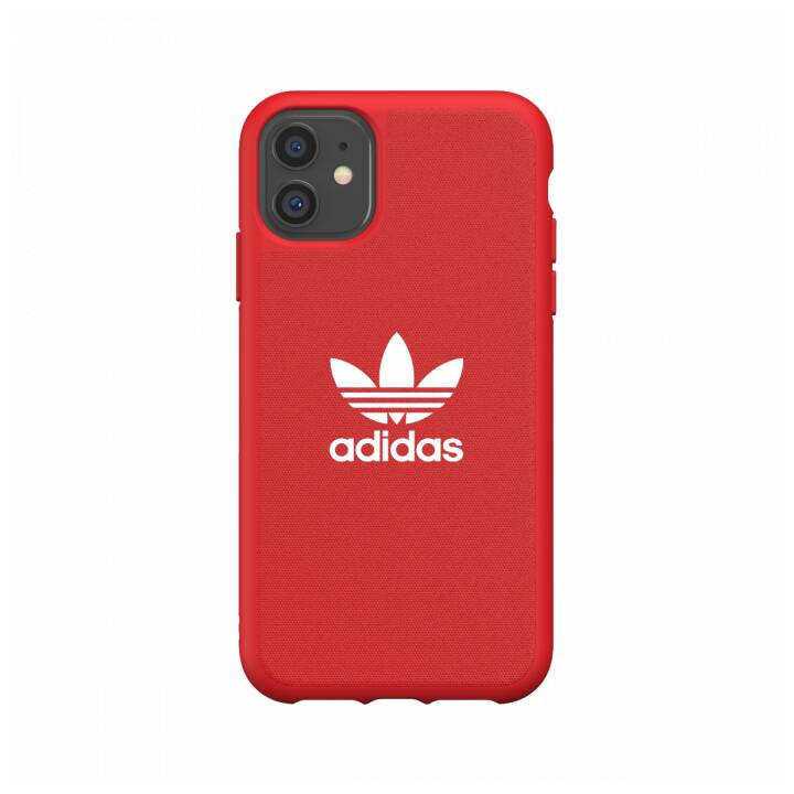 ADIDAS Backcover Moulded Canvas (iPhone 11, Rouge, Blanc)