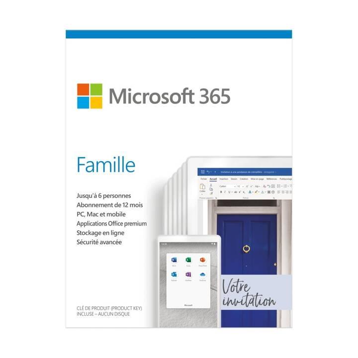 MICROSOFT 365 Famille (Abbonamento, 6x, 1 anno, Francese)