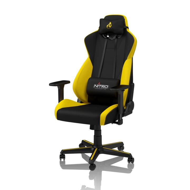 NITRO CONCEPTS Gaming Stuhl S300 (Schwarz, Gelb)