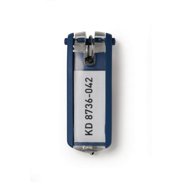 DURABLE Porte-clés 6 pcs Bleu