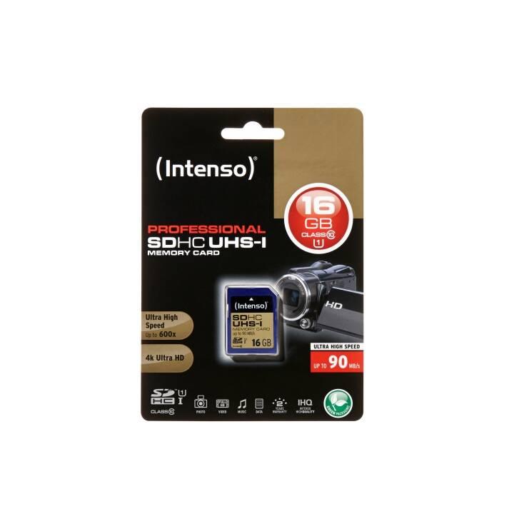 INTENSO SDHC Card PRO (Class 10, 16 GB, 90 MB/s)