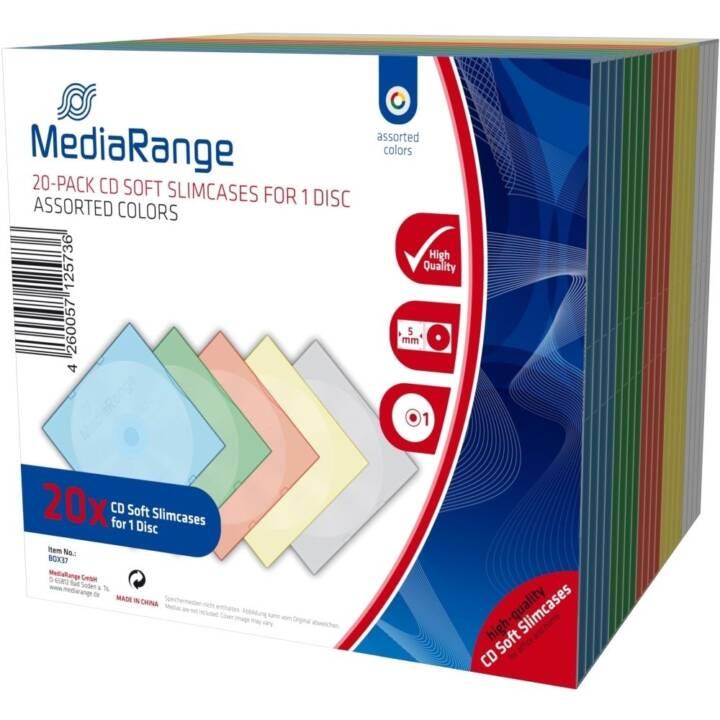 MEDIARANGE CD/DVD/BD Soft Slimcase, 20 pièces