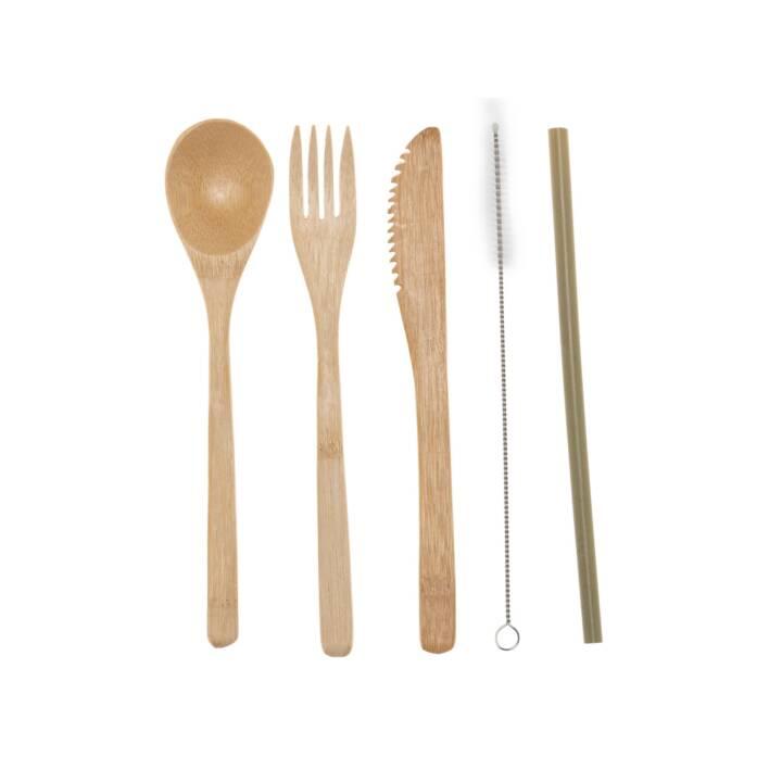 STRAWGANIC Couverts set Bamboo (5 x)