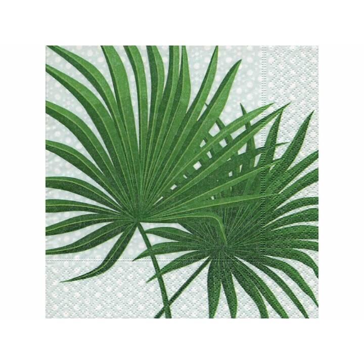 PAPER + DESIGN Serviette en papier Palm branch (20 Stk, Fleurs)