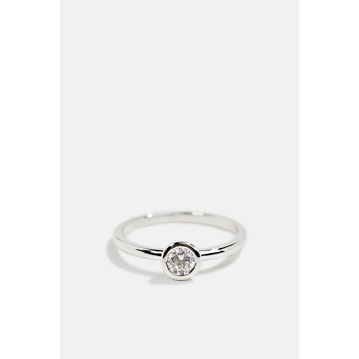 ESPRIT Fond Anello con diamante (50, Acciaio Inox)