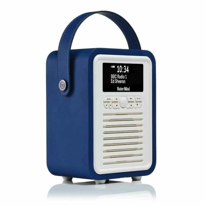 VIEW_QUEST Retro Mini Radio per cucina / -bagno (Navy Blue)