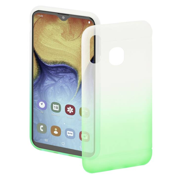 HAMA Backcover Colorful (Galaxy A20e, Verde, Transparente)