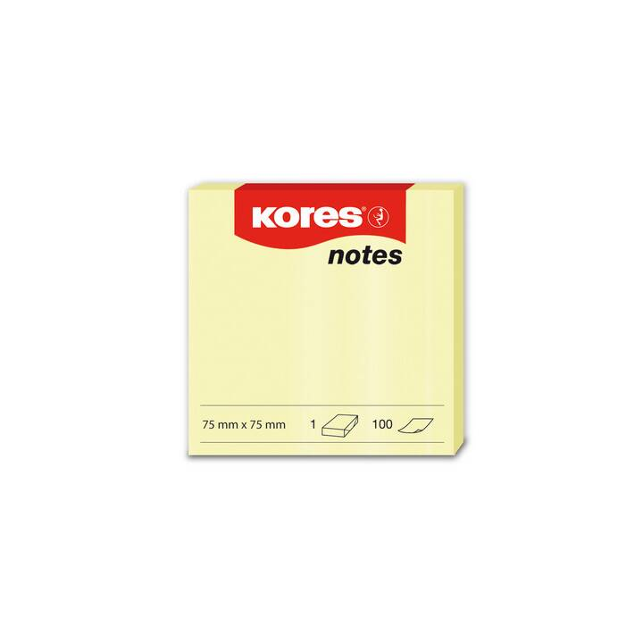 KORES NOTES 75x75mm
