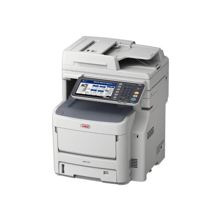 OKI MB770dfnvfax MFP mono Printer A4 52p (Laser/LED, Schwarz-Weiss)