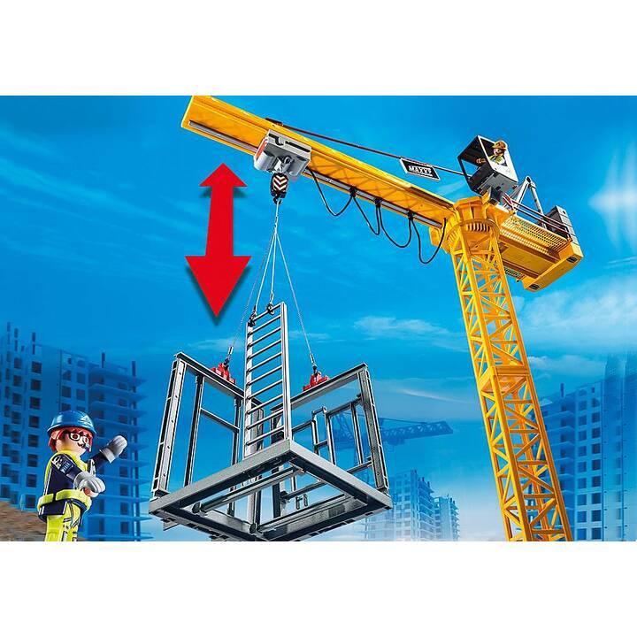 PLAYMOBIL City Action Grue radio-commandée avec mur de construction (70441)