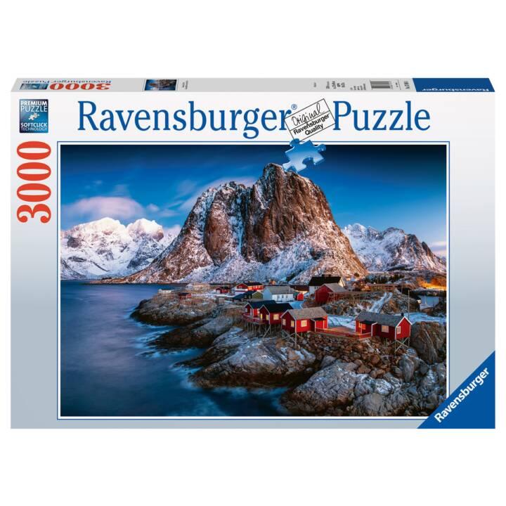 RAVENSBURGER Hamnoy Lofoten (3000 x, 2D Puzzle)