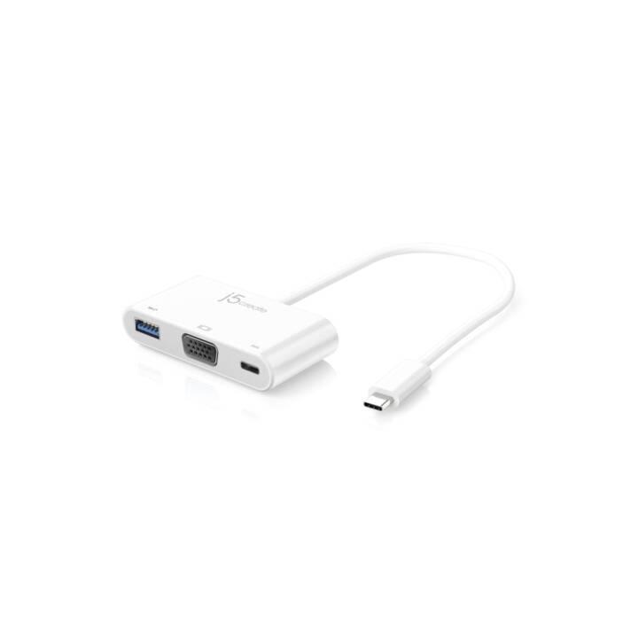 J5 Adapter Multi USB Type-C - VGA USB 3.0