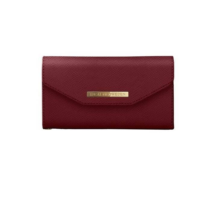 IDEAL OF SWEDEN Tasche Mayfair Clutch burgundy (iPhone 8 Plus, iPhone 7 Plus, iPhone 6 Plus, iPhone 6s Plus, Rot)