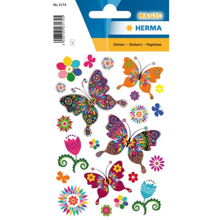 10 x Sticker Magic Schmetterlinge