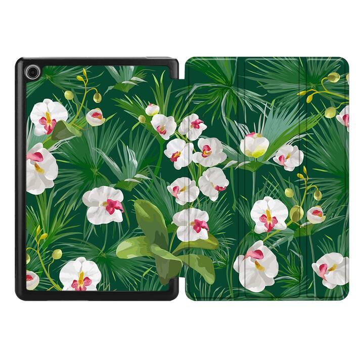 """EG MTT Housse pour HUAWEI MediaPad T5 10.1"""" 2018 - plantes tropicales"""